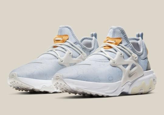 The Nike React Presto Premium Utilizes A Marble Exterior Pattern