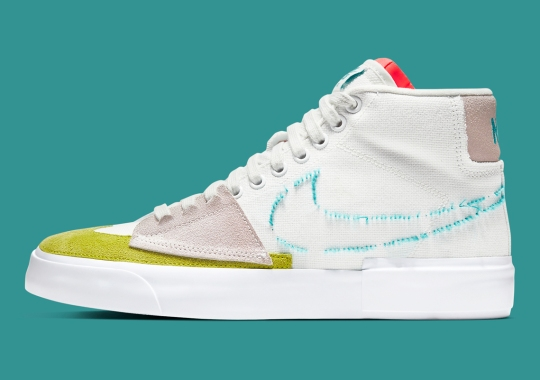 The Eccentric Nike SB Blazer Edge Gets Flipped With Aqua And Moss
