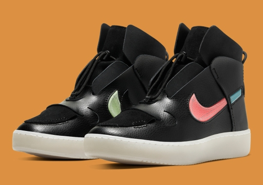 The Nike Vandalised For Women Adds A Tropical Swoosh Pairing Against Black Tumbled Leather