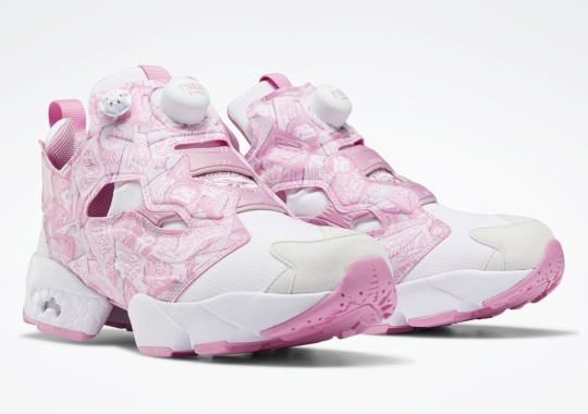 Reebok Adds An All-Over Print Logo Pattern On The Instapump Fury Bladder