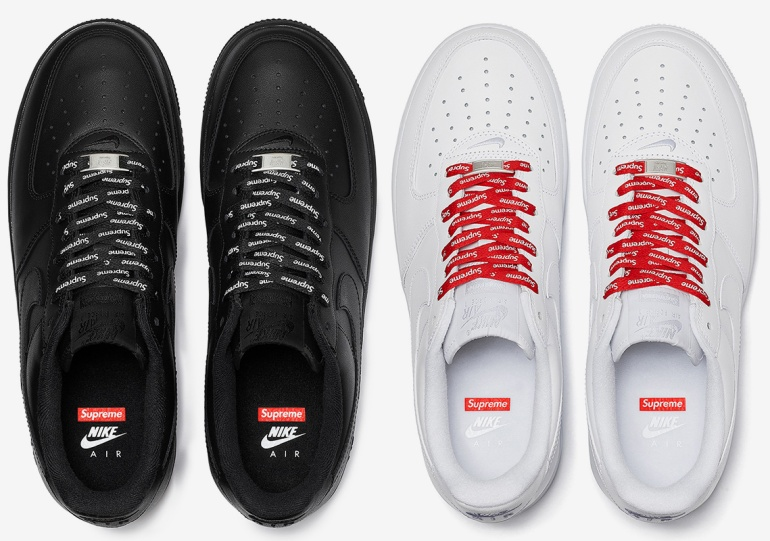 Supreme's Upcoming Nike Air Force 1 Low Comes With Alternate Laces