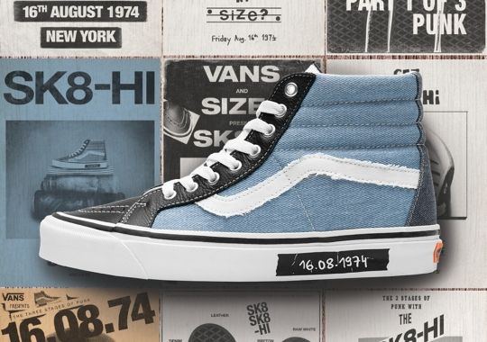 "size? And Vans Honor The ""Dawn Of Punk"" With A Sk8-Hi"