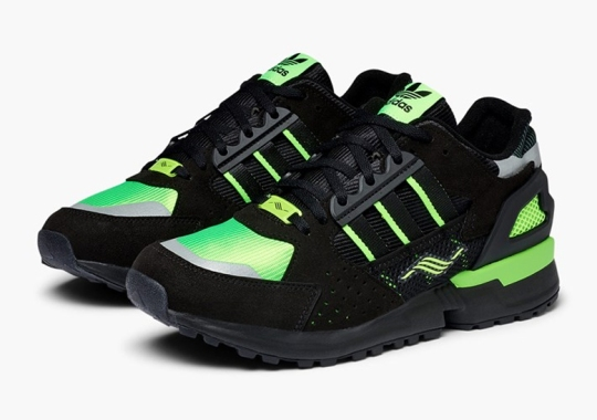 The adidas ZX 10.000C Returns In Black And Reflective Green