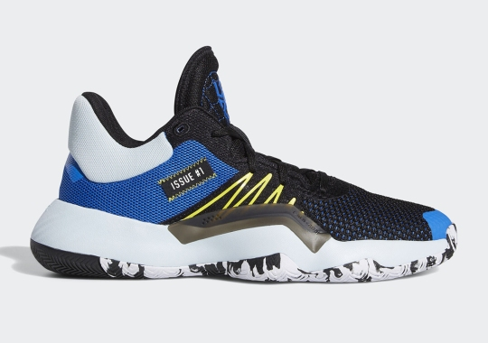The adidas DON Issue #1 Appears In Glory Blue And Shock Yellow