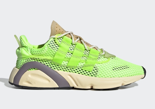 The adidas LXCON Adds Porous Mesh Uppers In Signal Green