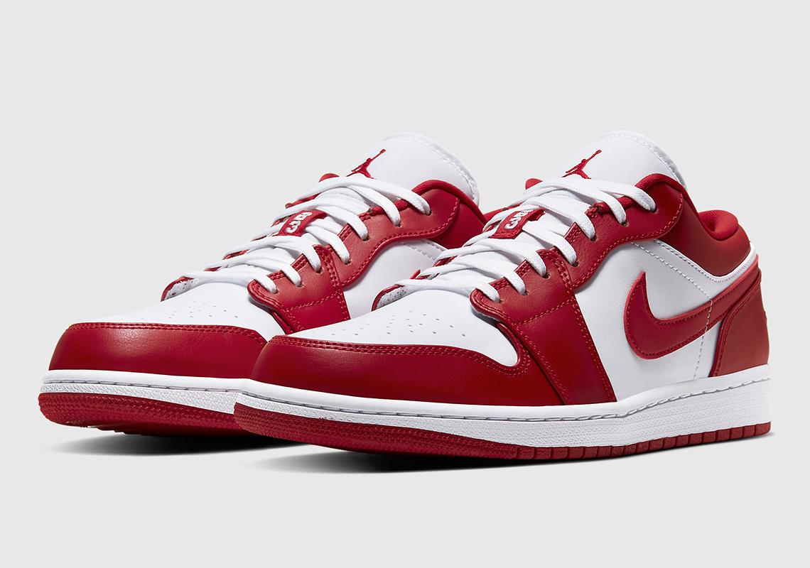 Air Jordan 1 Low Red White 553558 611 Sneakernews Com