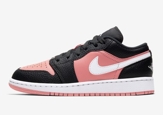 "The Air Jordan 1 Low ""Pink Quartz"" Paired With Black Tumbled Leather"