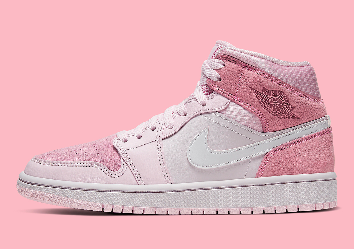 Air Jordan 1 Mid Pink White CW5379-600 | SneakerNews.com
