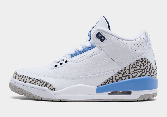"Best Look Yet At The Air Jordan 3 ""UNC"""