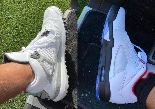Pat Perez Reveals An Air Jordan 4 And Air Jordan 5 Outfitted With Golf Spikes