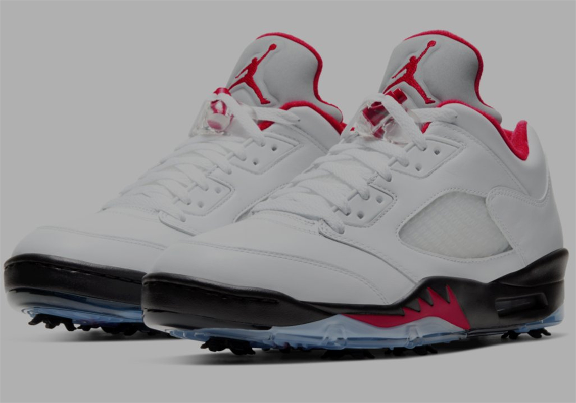 "Air Jordan 5 ""Fire Red"" Re-Imagined As A Golf Shoe: First Look"