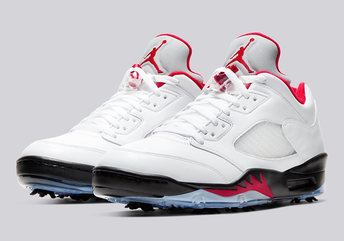 Air Jordan 5 Golf Fire Red - Release