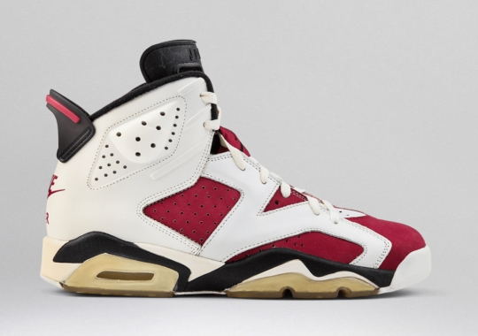 "Air Jordan 6 ""Carmine"" With Nike Air Rumored For A 2021 Release"
