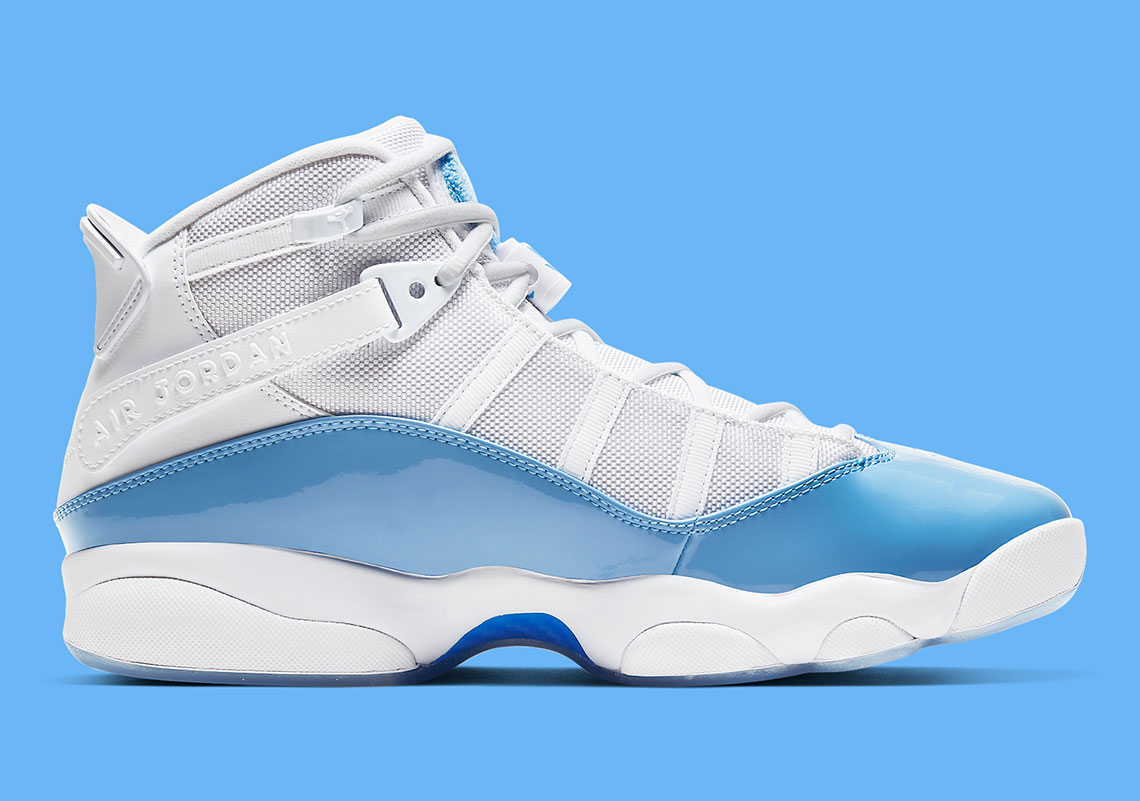 """Jordan 6 Rings """"UNC"""" Drops In Time For March Madness: Photos"""