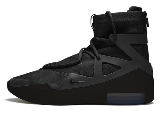 The Nike Air Fear Of God 1 Dresses Up In Triple Black