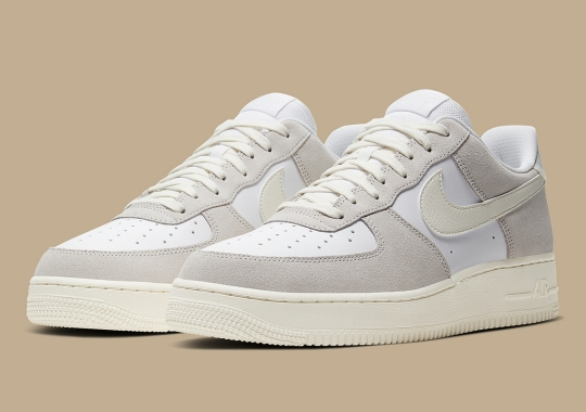 A Refreshing White And Sail Arrive On The Nike Air Force 1 Low