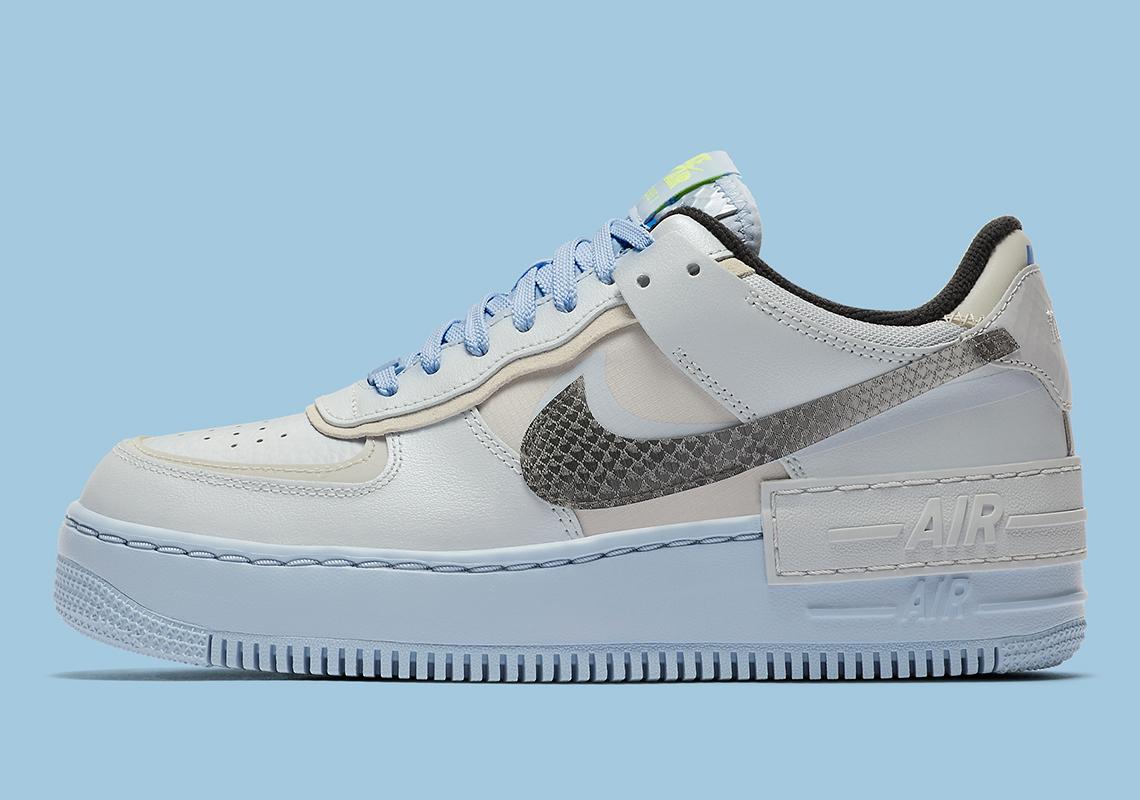 Nike Air Force 1 Shadow Snakeskin Blue CV3027-001 | SneakerNews.com