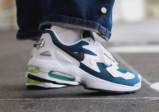 The Nike Air Max 2 Light Adds A 90s Friendly Teal And Volt Pairing