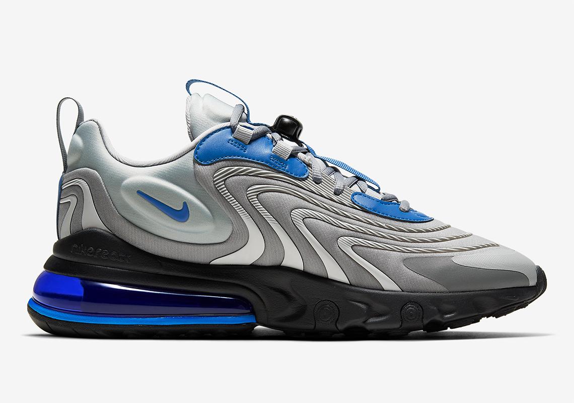 Nike Air Max 270 React Eng Silver Blue Cj0579 001 Sneakernews Com