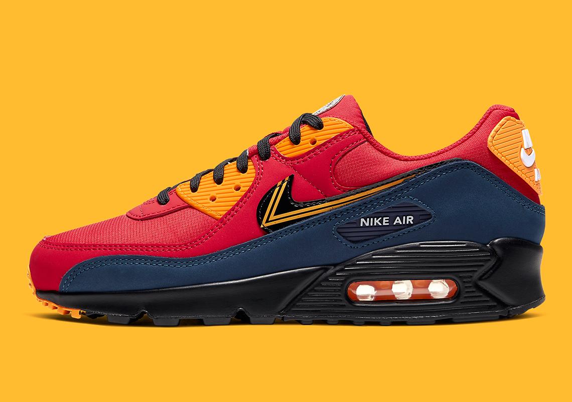 Nike Air Max 90 London Red Navy CJ1794-600 | SneakerNews.com