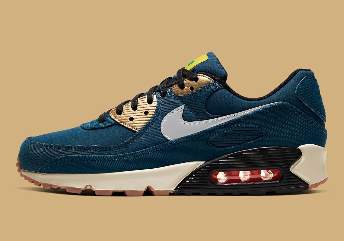 Nike Air Max 90 Tokyo Blue Gold CW1409