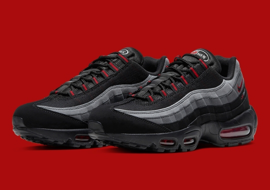 "The Nike Air Max 95 ""Logo"" Makes Use Of The Chili Red Look"