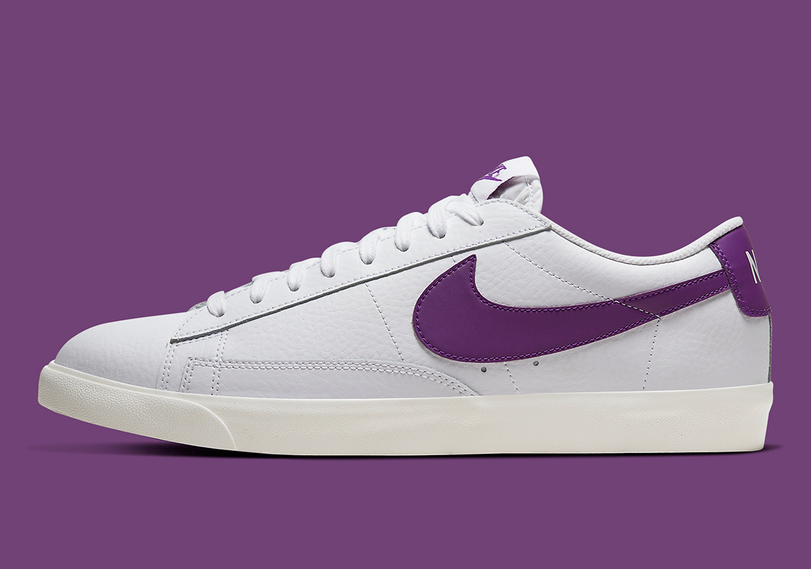 Nike Blazer Low White Purple CI6377-103 | SneakerNews.com
