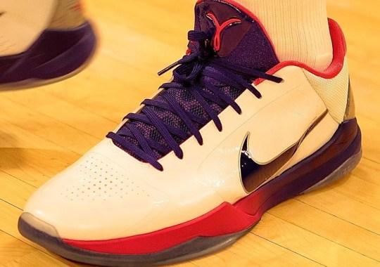 "Anthony Davis Debuts Nike Kobe 5 Protro ""Kay Yow"""