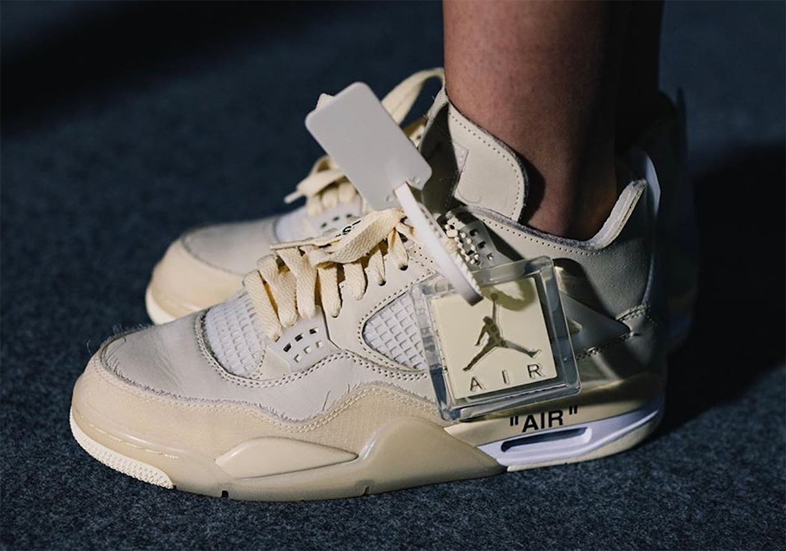 Off White Jordan 4 - Release Info + Photos | SneakerNews.com