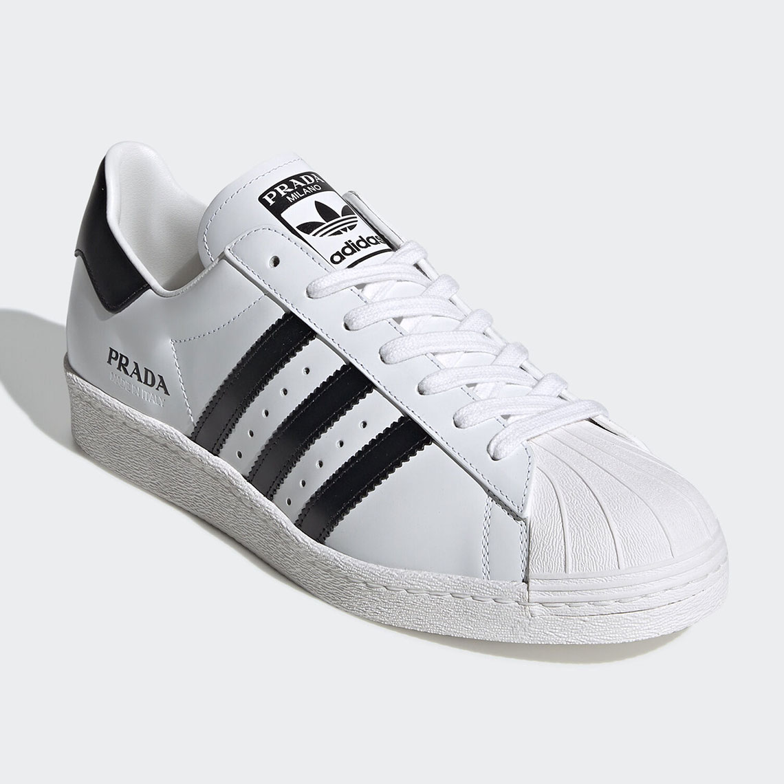PRADA adidas Superstar - White/Black Release Date | SneakerNews.com