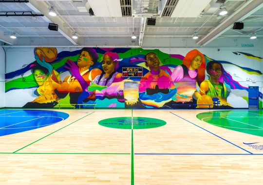 Virgil Abloh Teams Up With Nike To Redesign Boys & Girls Club Basketball Facilities In Chicago