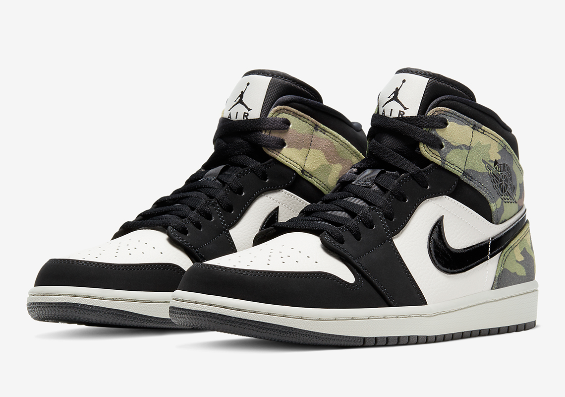 air jordan 1 mid noir et or
