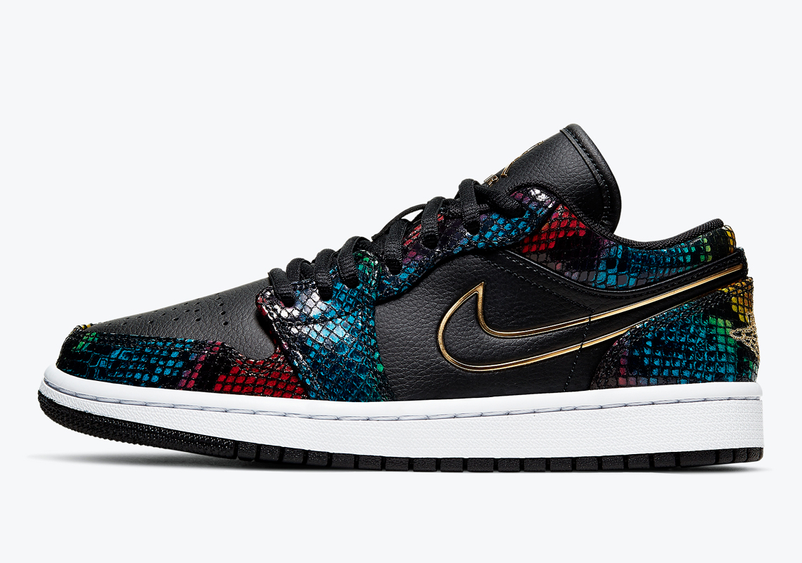 Air Jordan 1 Low Multi-Colored Snakeskin Unveiled: Photos