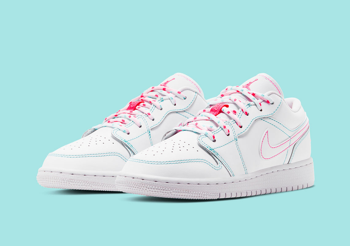 Air Jordan 1 Low Gs Aurora Pink 554723 101 Sneakernews Com