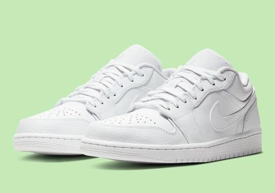"Sneakerhead Nurses Will Need This Air Jordan 1 Low ""Triple White"""