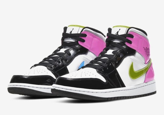The Air Jordan 1 Mid Is Covered In Patent Leather Pastels And More
