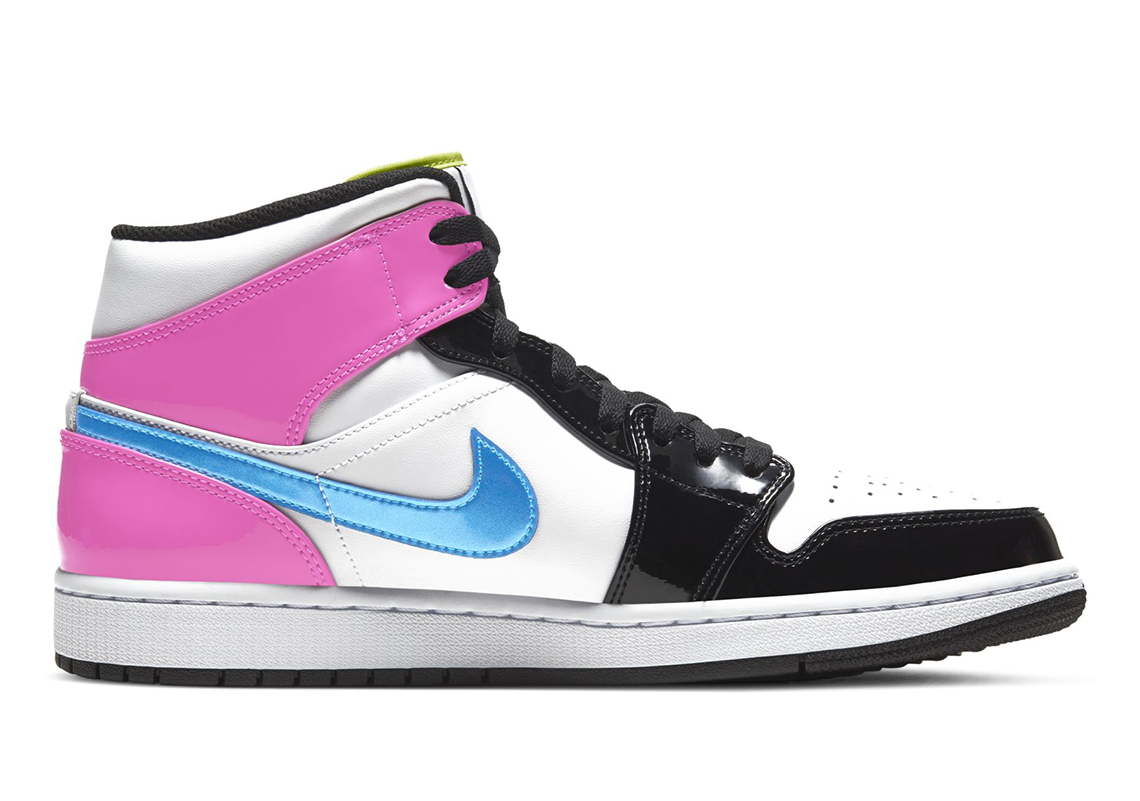 Air Jordan 1 Mid Receives Vibrant Patent Leather Colorway: Photos