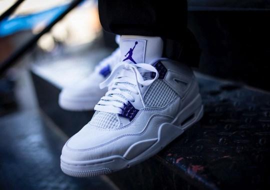 "On-Foot Look At The Air Jordan 4 ""Court Purple"""