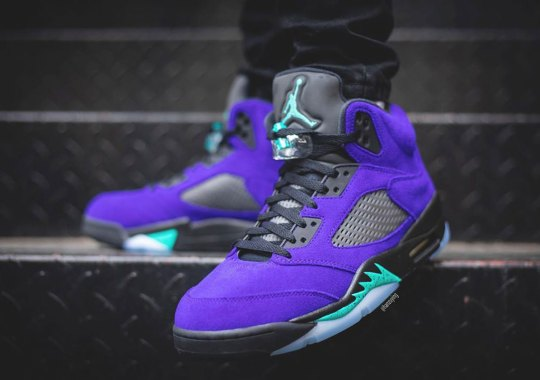"On-Foot Look At The Upcoming Air Jordan 5 ""Alternate Grape"""