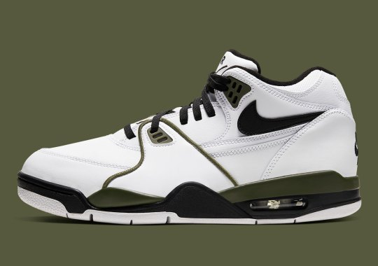 The Nike Air Flight '89 Cleans Up In Simple White/Black/Olive
