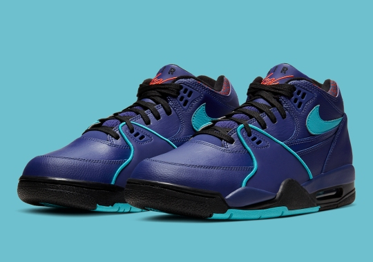 The Nike Air Flight '89 Enhanced By Vivid Purple, Teal, And Crimson