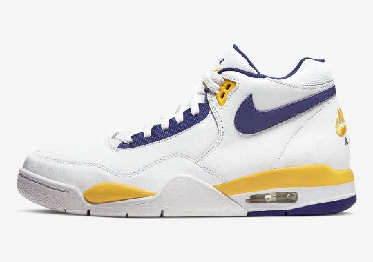 Home Lakers Themes Adorn The Nike Air Flight Legacy