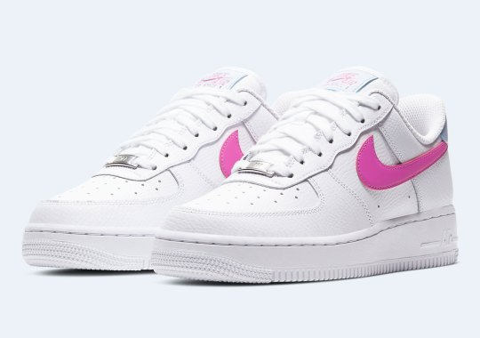 "Nike Adds ""Fire Pink"" Swooshes To The Air Force 1 Low"