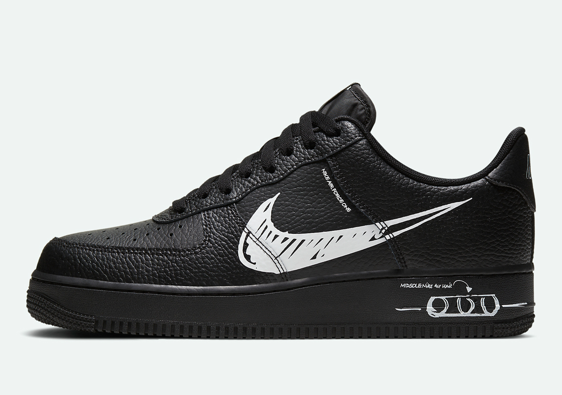 nike air force one low black