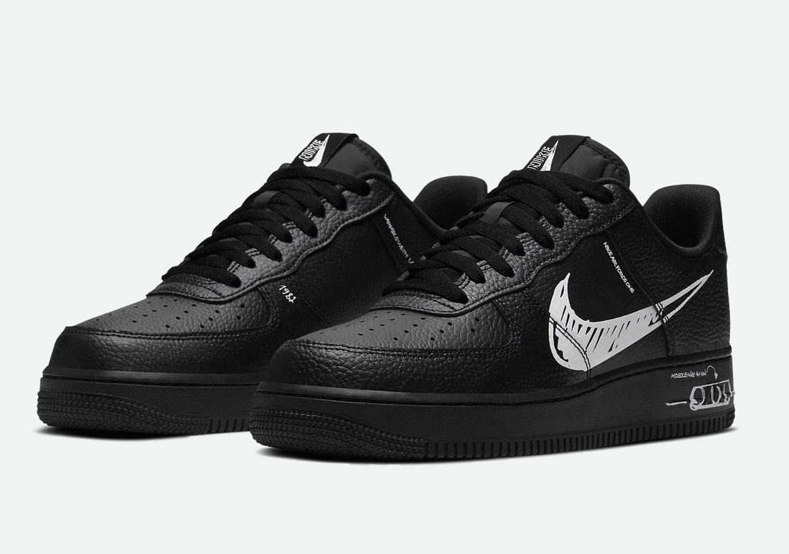 air force 1 low sketch