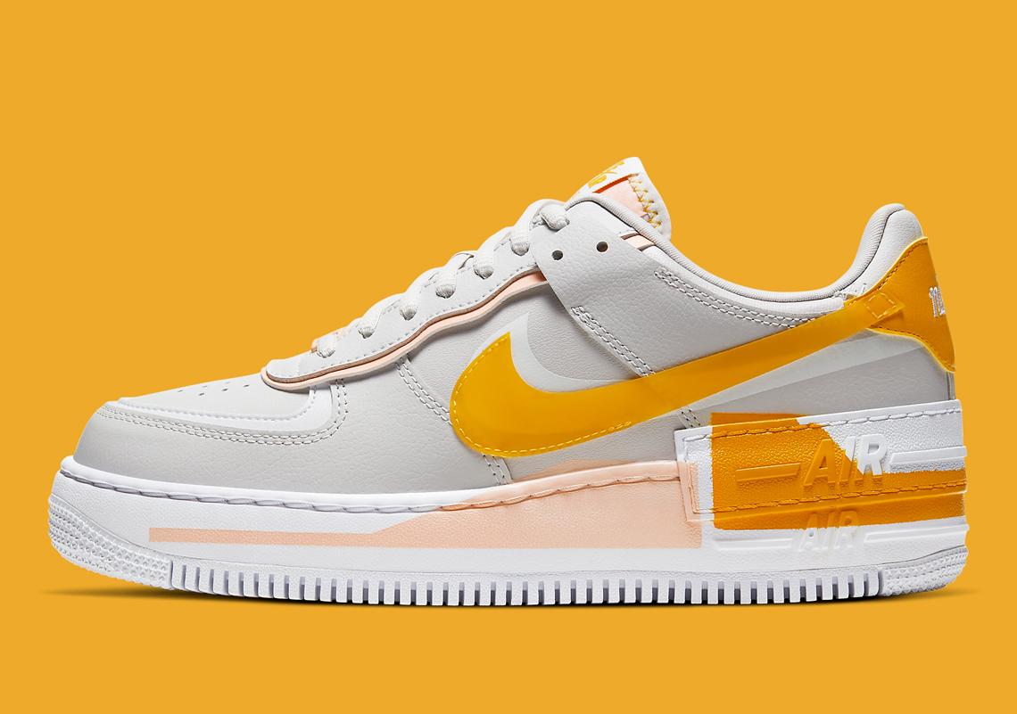 Nike Air Force 1 Shadow Pollen Rise Cq9503 001 Sneakernews Com Nike air force 1, white/white, 6 us unisex little kid. nike air force 1 shadow pollen rise