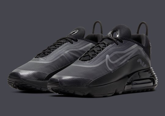 "The Nike Air Max 2090 Appears In A Near ""Triple Black"" Colorway"