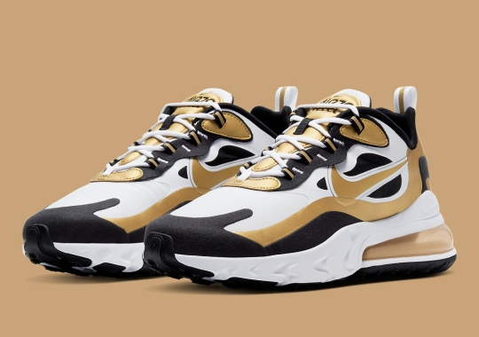 The Nike Air Max 270 React Gets A Defining Black And Gold Colorway
