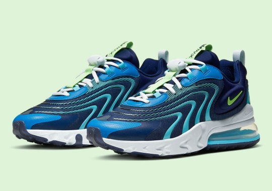 """Nike Adds """"Team Royal"""" And """"Green Strike"""" Accents To The Air Max 270 React ENG"""