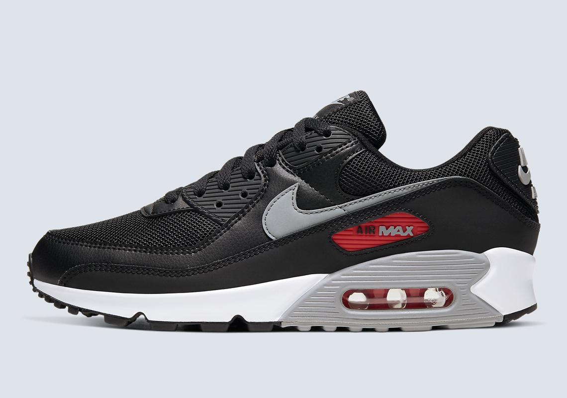 sol Proceso arrebatar  Nike Air Max 90 Premium Black Red CW7481-002 | SneakerNews.com